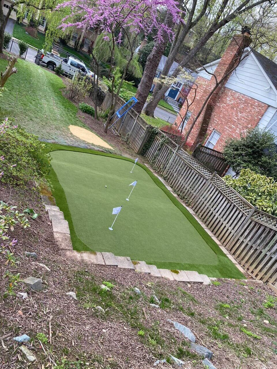 putting green on artificial turf