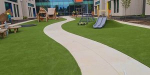 Finished project using artificial playground turf