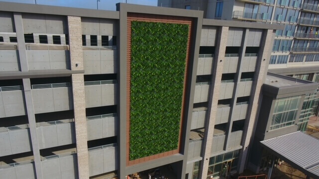 Synthetic grass wall