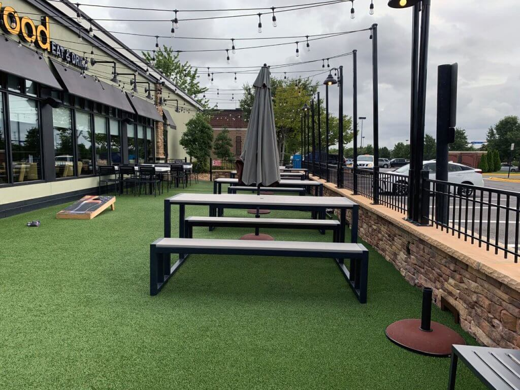 Outdoor Artificial Grass Seating Areas