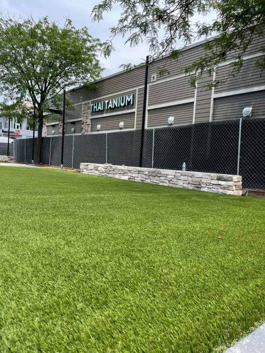 Commercial artificial grass installed by synlawn