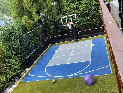 Synlawn residential sport court surfacing